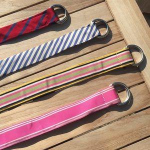 J. Crew silk and ribbon belts